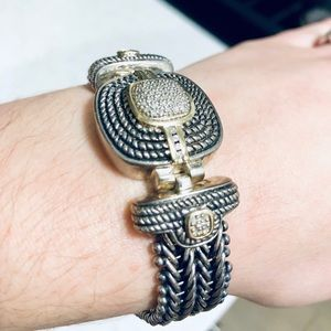 Diamond & gold Yurman style bracelet